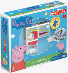 Stavebnice Peppa Pig Magicube Travel with Peppa