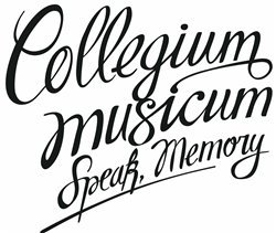 Collegium Musicum - Speak, Memory (CD & DVD)